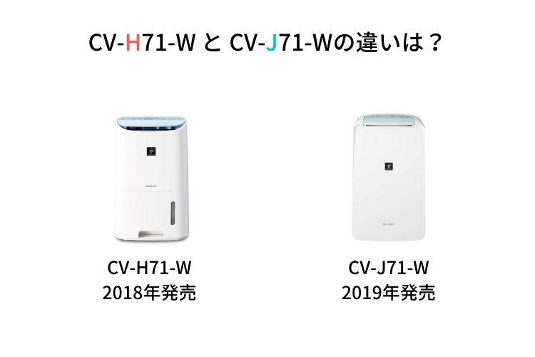 CV-H71-WとCV-J71-Wの違い
